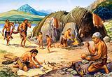 Stone age huts