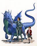 Dragon, knight and school boy