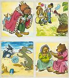 Assorted nursery characters