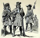 Grenadier, musketeer, and officer
