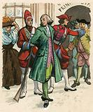 The editor John Wilkes being sent to prison for attacking the government