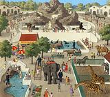 Scene at a zoo
