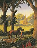 """""""The ploughman homeward plods his weary way, And leaves the world to darkness and to me."""""""