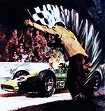 Jim Clark Wins America's Big Race