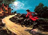 Scene from the The Highwayman, poem by English poet Alfred Noyes