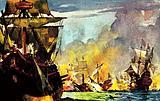 "Sir Richard Grenville's last fight in his ship ""The Revenge"""