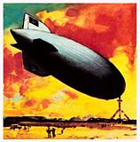 The Zeppelin, the most famous of airships, invented by Count von Zeppelin