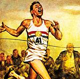 Roger Bannister, the first man to run a mile under four minutes