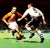 Stanley Matthews about to win his one Cup Winner's medal
