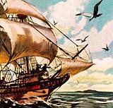 The ship of Abel Tasman