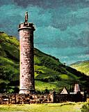 The Glenfinnan Monument at the head of Loch Sheil in Scotland