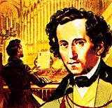 """Felix Mendelssohn who wrote the music for """"Hark the Herald Angels Sing"""""""