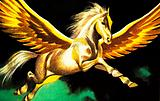 The winged horse, Pegasus