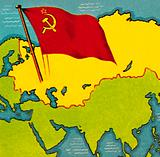 Map of the Soviet union, or USSR
