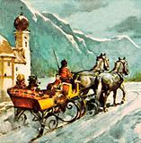 Travel by sleigh in Austria