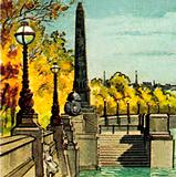 Cleopatra's Needle on the Thames Embankment