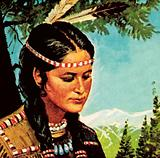 Minnehaha, the beautiful wife of Hiawatha