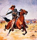 Cowboy with lassoo