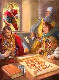 Robin Hood humiliating Prince John