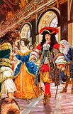 The french court at Versailles