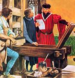 Caxton's printing press