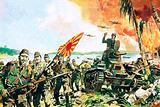 Japanese invading Singapore
