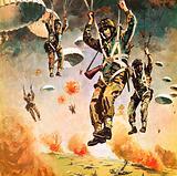 British 1st Airborne Division dropping on Arnhem