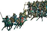 Mongol warriors on horseback