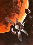 The Viking spacecraft imagined orbiting Mars