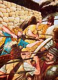 Mycenaean warriors fighting