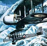 Vickers Victoria and a Handley Page Hinaidi carrying Europeans to safety in India in 1929 when …