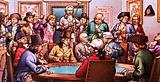 Gambling club in late 18th century London