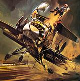 Pilot being ejected from the Ryan XV-5 Jump Jet