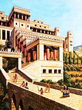 Re-creation of the palace of Knossos