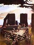 The building of Stonehenge, an imagined in 1978