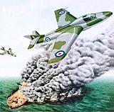 The Royal Airforce bombing the remains of the Torrey Canyon