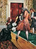 Lady Nithsdale begging the George I for clemency for her husband