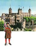 The Tower of London with Beefeater