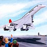 Concorde landing in New York on 22 November 1977
