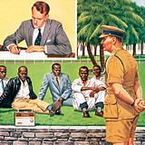 Ian Smith signing Rhodesia's unilateral declaration of independence