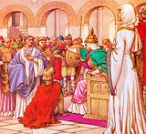 In 610 AD, Brunehilda, queen of the Burgundians, expelled Columbanus for preaching against the luxury of her court