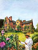 Sir Winston Churchill painting at Chartwell