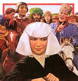 Chaucer's pilgrims with the Prioress to the fore