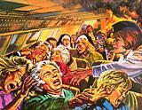 Barbara Harrison helping passengers escape