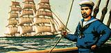 Square-rigger with a sailor who is square-rigged (ie well dressed)