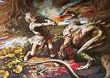Sigurd slaying the dragon Fafnir