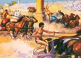 Chariot racing at the Olympic Games, ancient Greece