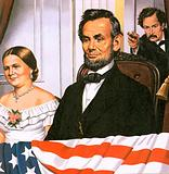 Aassassination of US President Abraham Lincoln, Washington DC, USA, 1865