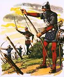 A archer of the time of the battle of Agincourt
