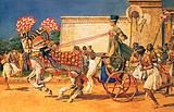 Nefertiti in her royal chariot